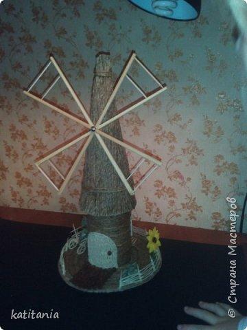 """Старая мельница - крутится, вертится! Очень вдохновили многие работы из нашей """"страны"""", насмотревшись сделала свою...........Лопасти у моей мельницы, крутятся. Муж помог )))) фото 1"""