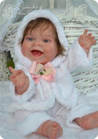 """Здравствуйте, девочки-мастерицы!Я к вам с новорожденными сестричками, вчера """"родились"""". Малышки по 35см, вес каждой по 1 кг. Очень позитивные, поднимающие настроение, пухленькие, тискательные, хоть и маленькие. Поглядите- Оленька и Алёнка. фото 18"""