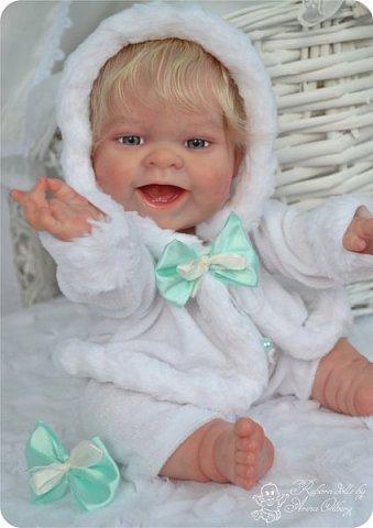"""Здравствуйте, девочки-мастерицы!Я к вам с новорожденными сестричками, вчера """"родились"""". Малышки по 35см, вес каждой по 1 кг. Очень позитивные, поднимающие настроение, пухленькие, тискательные, хоть и маленькие. Поглядите- Оленька и Алёнка. фото 17"""