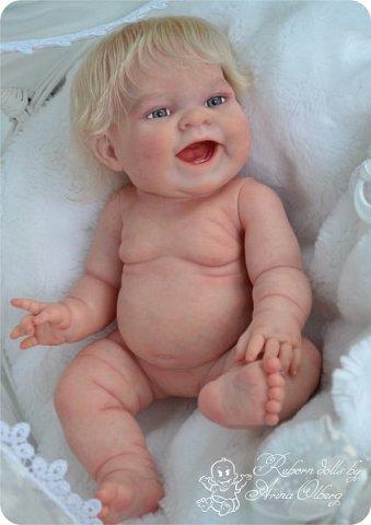 """Здравствуйте, девочки-мастерицы!Я к вам с новорожденными сестричками, вчера """"родились"""". Малышки по 35см, вес каждой по 1 кг. Очень позитивные, поднимающие настроение, пухленькие, тискательные, хоть и маленькие. Поглядите- Оленька и Алёнка. фото 24"""