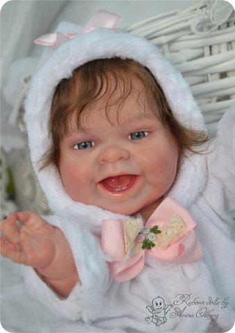 """Здравствуйте, девочки-мастерицы!Я к вам с новорожденными сестричками, вчера """"родились"""". Малышки по 35см, вес каждой по 1 кг. Очень позитивные, поднимающие настроение, пухленькие, тискательные, хоть и маленькие. Поглядите- Оленька и Алёнка. фото 14"""
