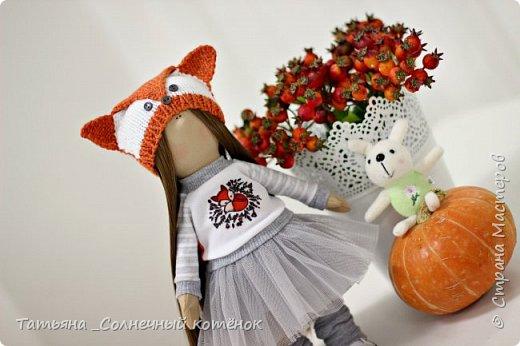 Текстильная куколка Василиса фото 2