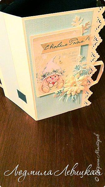 Здравствуйте! Заказали мне несколько открыточек с кармашком для денюжки... Сделала пока две. Показываю. На первой бумага красивого голубого цвета (фото не передает). фото 6