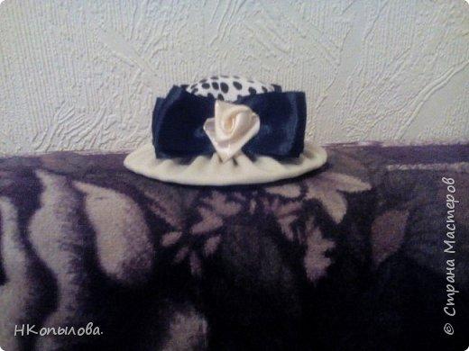 Шляпка-игольница. Вид спереди. фото 5