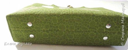 Текстильная сумка с аппликацией и свободно-ходовой машинной стежкой. Размер сумки 42х32х11 . Ткань - лен однотонный. Подкладка х/б ткани(бязь). фото 5