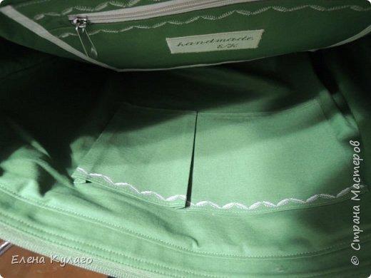 Текстильная сумка с аппликацией и свободно-ходовой машинной стежкой. Размер сумки 42х32х11 . Ткань - лен однотонный. Подкладка х/б ткани(бязь). фото 6