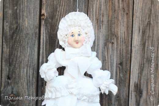 Игрушка ёлочная.Кукла в стиле ретро фото 2