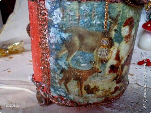 К вашему вниманию представляю 2 часть(первая  в предыдущем блоге).. За основу этого короба взято пластиковое ведро ..лепка из глины.салфетка.. фото 22