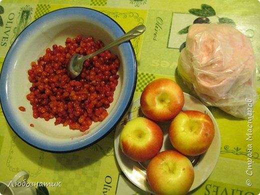 Добрый вечер! Хочу поделиться с вами опытом выпекания яблочно-калинового пирога. Рецепт теста из которого я пеку пироги - универсальный и проверен многократно. Начинку кладу любую. Итак начнём! Для теста:  0,5 л любого кефира; 200 г маргарина (растопить); 1 чайная ложка без верха разрыхлитель теста (или 0,5 ч. л.соды +1 ч. л. уксуса =гасить); соль по вкусу и мука. Замесить крутое тесто и дать постоять 30 - 40 мин. Из этого количества теста получается два больших пирога.                      фото 2
