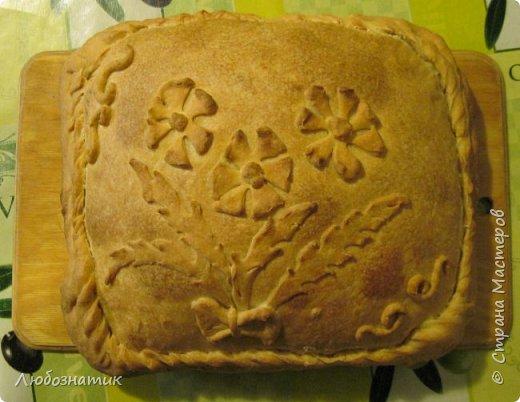 Добрый вечер! Хочу поделиться с вами опытом выпекания яблочно-калинового пирога. Рецепт теста из которого я пеку пироги - универсальный и проверен многократно. Начинку кладу любую. Итак начнём! Для теста:  0,5 л любого кефира; 200 г маргарина (растопить); 1 чайная ложка без верха разрыхлитель теста (или 0,5 ч. л.соды +1 ч. л. уксуса =гасить); соль по вкусу и мука. Замесить крутое тесто и дать постоять 30 - 40 мин. Из этого количества теста получается два больших пирога.                      фото 1