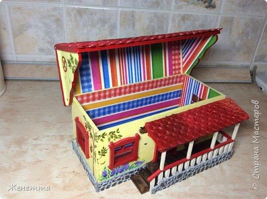 Домик для чая, сделанный с любовью))) фото 8