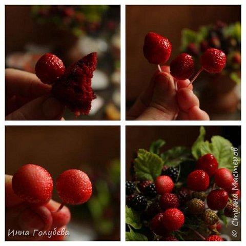 Девочки,привет! Налепила вот таких ягодок, часть из них делала на заказ и добавила разнообразия,заодно немного пофоткала процесс тонировки. фото 10