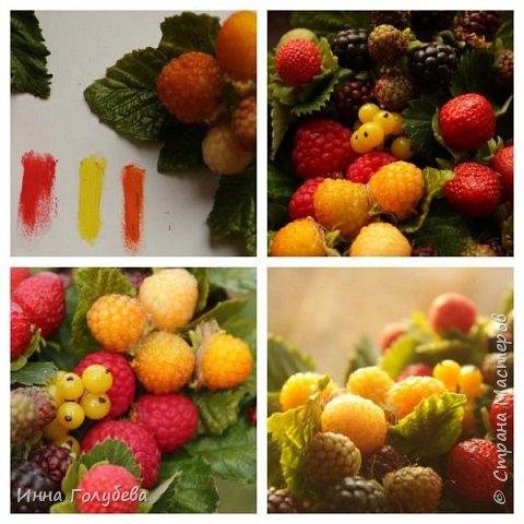 Девочки,привет! Налепила вот таких ягодок, часть из них делала на заказ и добавила разнообразия,заодно немного пофоткала процесс тонировки. фото 13