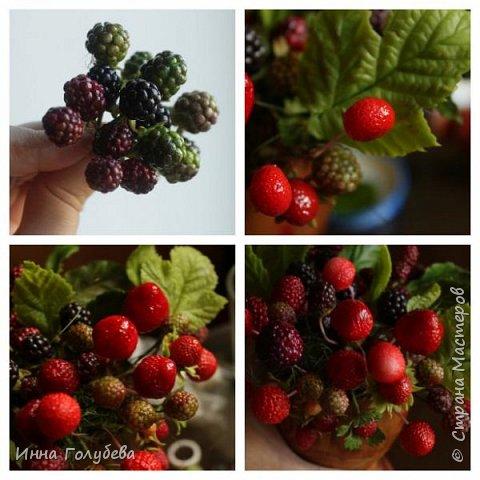 Девочки,привет! Налепила вот таких ягодок, часть из них делала на заказ и добавила разнообразия,заодно немного пофоткала процесс тонировки. фото 14