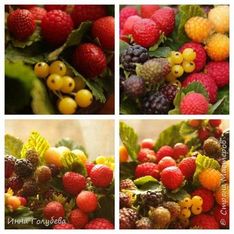 Девочки,привет! Налепила вот таких ягодок, часть из них делала на заказ и добавила разнообразия,заодно немного пофоткала процесс тонировки. фото 15