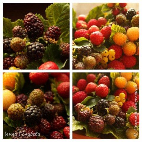 Девочки,привет! Налепила вот таких ягодок, часть из них делала на заказ и добавила разнообразия,заодно немного пофоткала процесс тонировки. фото 17