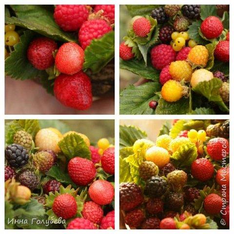 Девочки,привет! Налепила вот таких ягодок, часть из них делала на заказ и добавила разнообразия,заодно немного пофоткала процесс тонировки. фото 18