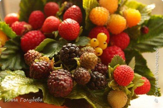 Девочки,привет! Налепила вот таких ягодок, часть из них делала на заказ и добавила разнообразия,заодно немного пофоткала процесс тонировки. фото 19