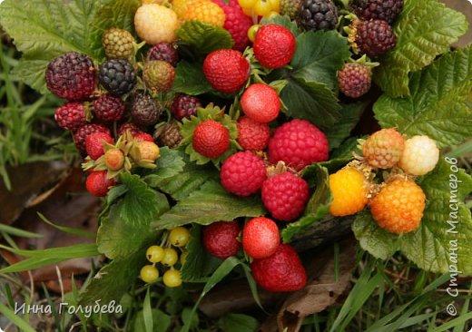 Девочки,привет! Налепила вот таких ягодок, часть из них делала на заказ и добавила разнообразия,заодно немного пофоткала процесс тонировки. фото 5