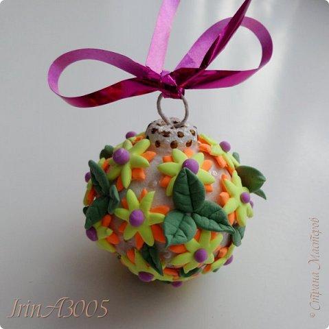 «Ёлочная игрушка – цветочный шар» фото 1