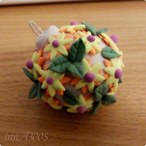 «Ёлочная игрушка – цветочный шар» фото 17
