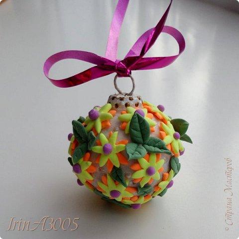 «Ёлочная игрушка – цветочный шар» фото 19