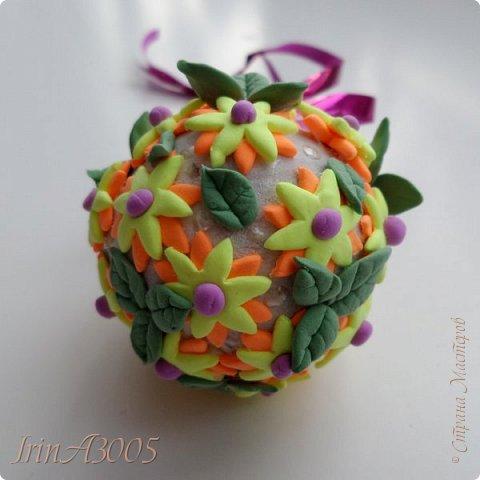 «Ёлочная игрушка – цветочный шар» фото 20