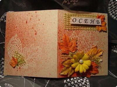 Хочу показать вам работы, которые я сделала по игре-обмену .... открытка и игольница...  фото 6