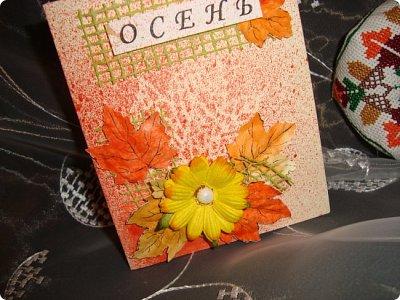 Хочу показать вам работы, которые я сделала по игре-обмену .... открытка и игольница...  фото 2