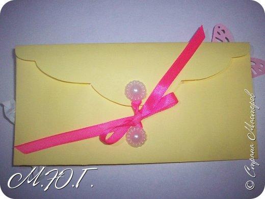 Здравствуйте,Попросили у меня очень срочно конвертик для локона в желто -розовых тонах,вот что получилось фото 4