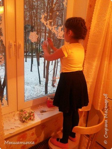Всем доброго времени суток! Не могу не поделиться своим новым вдохновением и новогодним настроением! да, до НГ еще далековато, но красоты и украшений очч хочется, настроение совсем иное когда за окном зима и скоро самый волшебный праздник!  Решила увлечься вырезанием и дочь подключить к творческому процессу! для меня это не просто вырезание - в силу отсутствия на данный период работы и , соответственно, принтера, все от и до пришлось рисовать самой!!! а не рисовала я аж 1994 года ))).. не разучилась, однако   фото 8