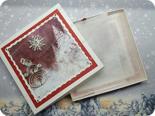 коробочка. Очень понравились открытки мастерицы Ольги  Краевой.  http://stranamasterov.ru/node/474252?c=favorite фото 2