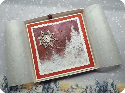 коробочка. Очень понравились открытки мастерицы Ольги  Краевой.  http://stranamasterov.ru/node/474252?c=favorite фото 3