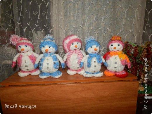 Новогодние снеговички по МК Анастасии Зяблицкой фото 8