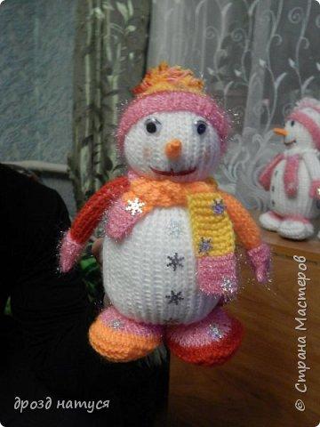 Новогодние снеговички по МК Анастасии Зяблицкой фото 9