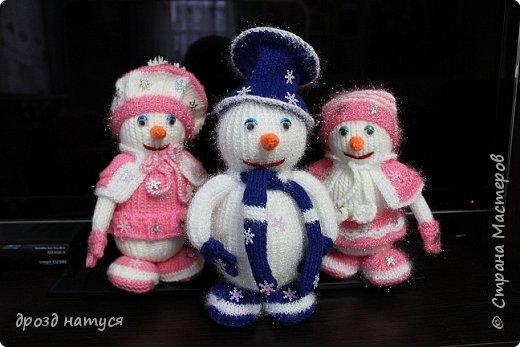 Новогодние снеговички по МК Анастасии Зяблицкой фото 2