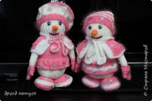 Новогодние снеговички по МК Анастасии Зяблицкой фото 1