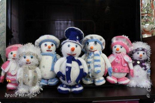 Новогодние снеговички по МК Анастасии Зяблицкой фото 5