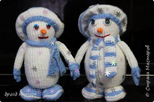 Новогодние снеговички по МК Анастасии Зяблицкой фото 6