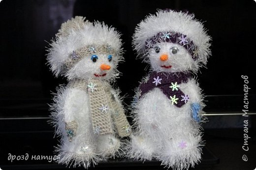 Новогодние снеговички по МК Анастасии Зяблицкой фото 7