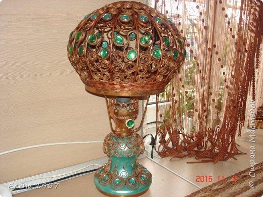 Давно мечтала сделать себе абажур на лампу(стеклянный разбился),   люстру, карниз.Вот что получилось.Восемь месяцев некогда было, вот соскучилась. фото 1