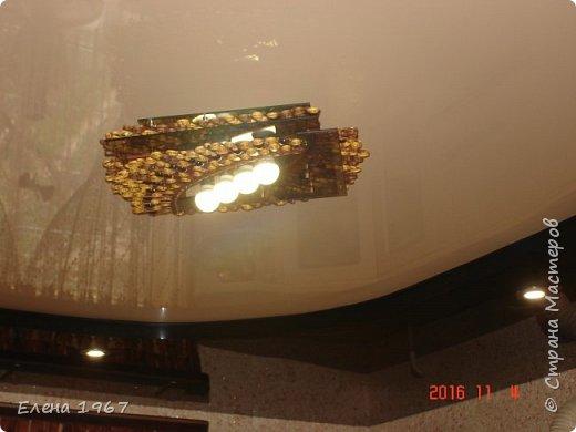 Давно мечтала сделать себе абажур на лампу(стеклянный разбился),   люстру, карниз.Вот что получилось.Восемь месяцев некогда было, вот соскучилась. фото 3