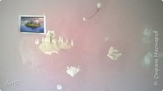 Роспись стены в детской комнате. Стена 4.5Х2.3 метра. Снято на мобильный, так что прошу прощения за качество фото. фото 9