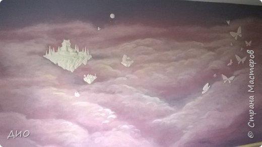 Роспись стены в детской комнате. Стена 4.5Х2.3 метра. Снято на мобильный, так что прошу прощения за качество фото. фото 20