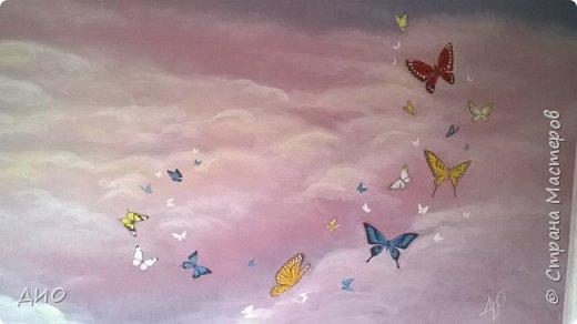 Роспись стены в детской комнате. Стена 4.5Х2.3 метра. Снято на мобильный, так что прошу прощения за качество фото. фото 24
