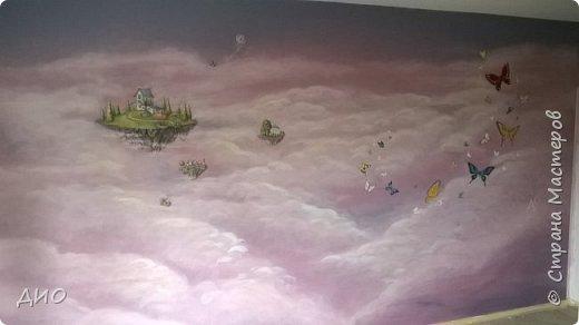 Роспись стены в детской комнате. Стена 4.5Х2.3 метра. Снято на мобильный, так что прошу прощения за качество фото. фото 27
