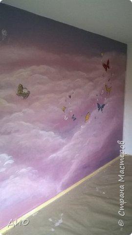 Роспись стены в детской комнате. Стена 4.5Х2.3 метра. Снято на мобильный, так что прошу прощения за качество фото. фото 26