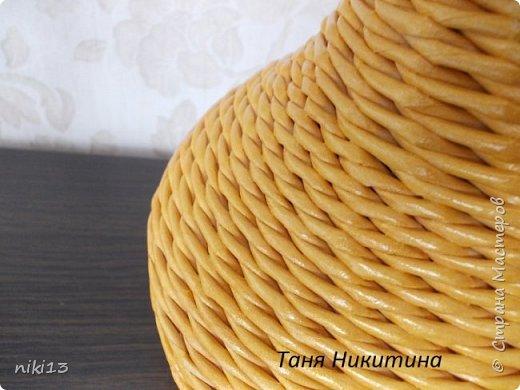 Здравствуйте, дорогие мои! В пару к яблочку (адрес: http://stranamasterov.ru/node/1011836) сплелась вот такая груша. Спасибо Леночке Талайковой за МК (адрес: https://vk.com/album-83422293_233631044) . Ширина полосы 7 см, спица 1,5 мм, водная морилка Лиственница. фото 5