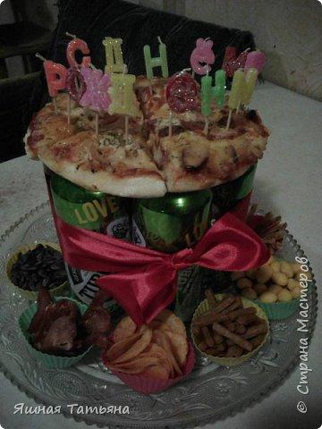 Тортик для мужа (идея не моя, нашла в интернете), свечки можно зажечь и загадать желание, побывать чуть-чуть в детстве!!!!! фото 1