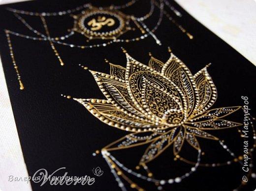 Точечная роспись. Священный цветок Лотоса фото 2